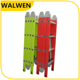 plastic-sprayed four-folding small hings muiti-purpose ladder