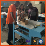 USA clients inspect the valve packing machine for mortar