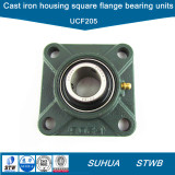 Cast-Iron-Housing-Four-Bolt-Square-Flange-Ball-Bearing-Units-UCF205-