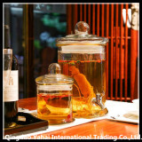cylinder clear glass beverage drink dispenser