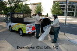 Electric Industrial Utility Truck Used in Charlotte for Garbage Collection