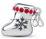 Christmas Stocking Silver Charm Bead