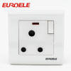 15A round shape switched socket