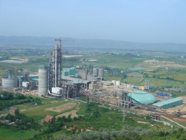 Fushe Cement Factory in Kruje, Albania