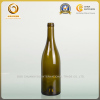 Cork top 750ml burgundy glass bottle