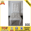Aluminium white leather dining chair