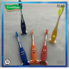 Funny smiley kids' toothbrushes with soft nylon bristle