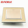 New type champagne gold color arcylic wall switch
