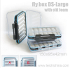 fly box DS-Large with slit foam