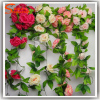 Silk Rose Flower Fake Artificial IVY Vine Hanging Garland Wedding Home Decor