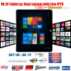 10.10 inch tablet pc Dual sytem tablet pc with ARABIC IPTV EUROPE IPTV