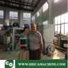 old clients visit factory