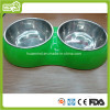 Double Pet Bowl Dog Feeding Bowl