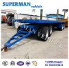 4 Axle Flatbed Drawbar Full Dolly Semi Truck Trailer