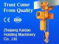 Zhejiang Kaidao Hoisting Machinery Co., Ltd.