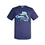 간단한 파란 남녀 공통 t-셔츠