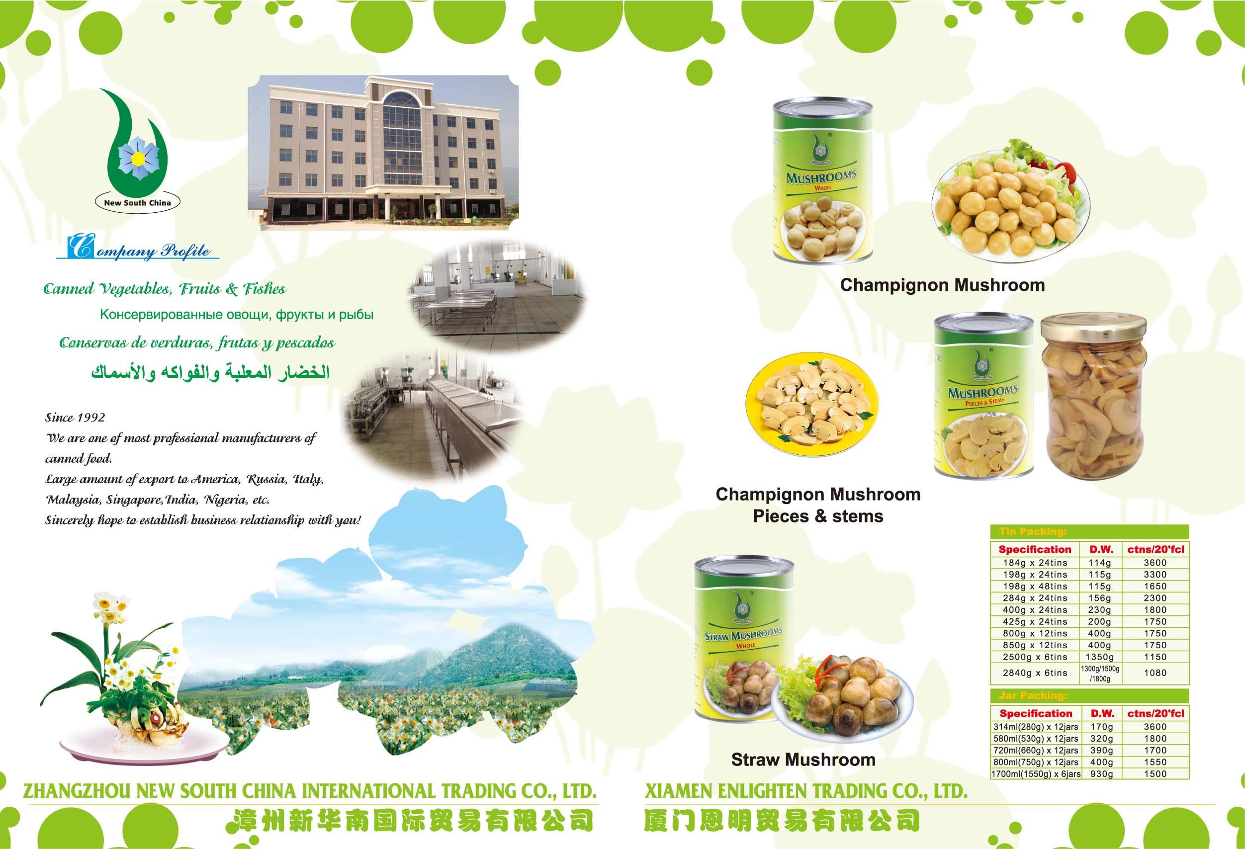 Canned Food - XIAMEN ENLIGHTEN TRADING CO., LTD.